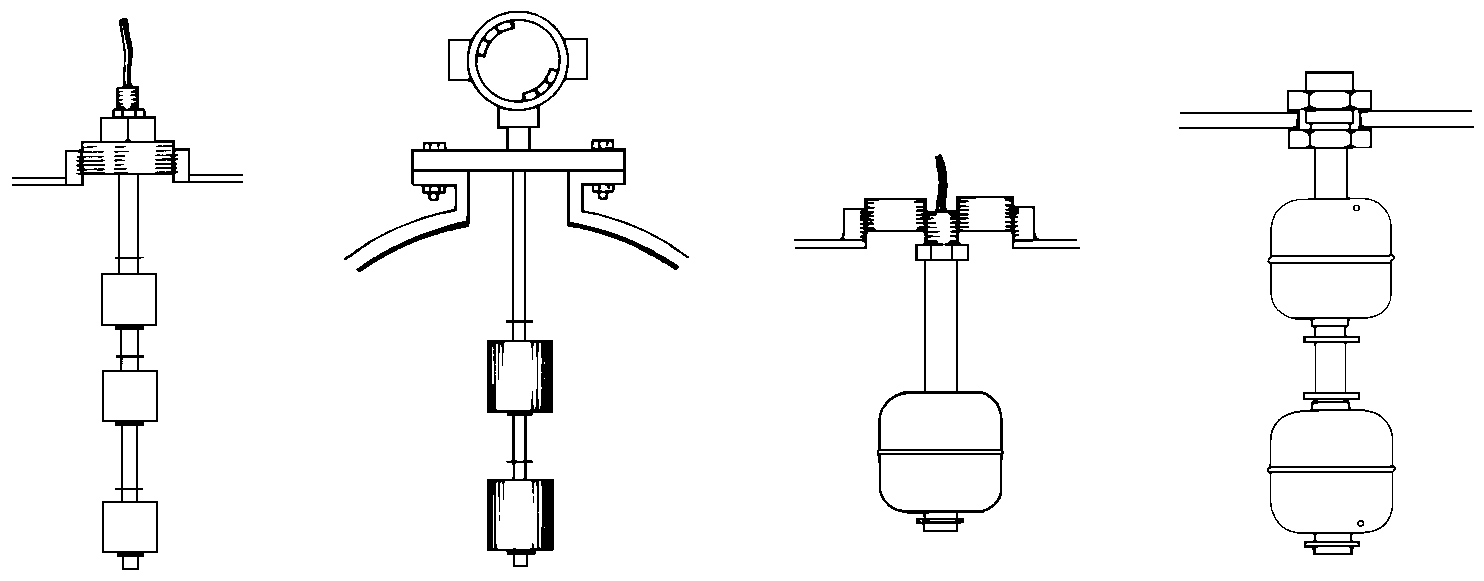 typical float switch installation fittings