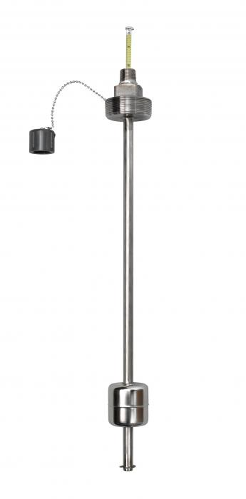 Visual level indicator, stainless steel, 2